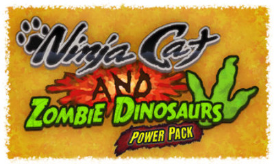 Ninja Cat and Zombie Dinosaurs PowerPack